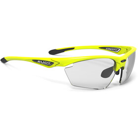 Rudy Project Stratofly Okulary rowerowe, yellow fluo gloss - impactx photochromic 2 black